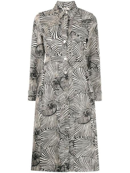 Baum Und Pferdgarten geometric single-breasted coat in black