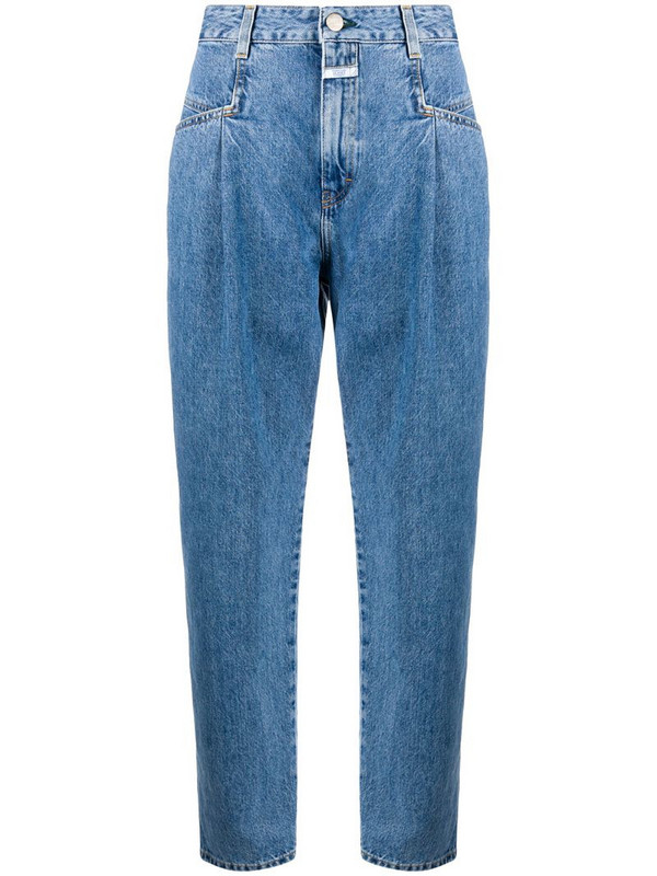 Closed high-rise mom jeans in blue