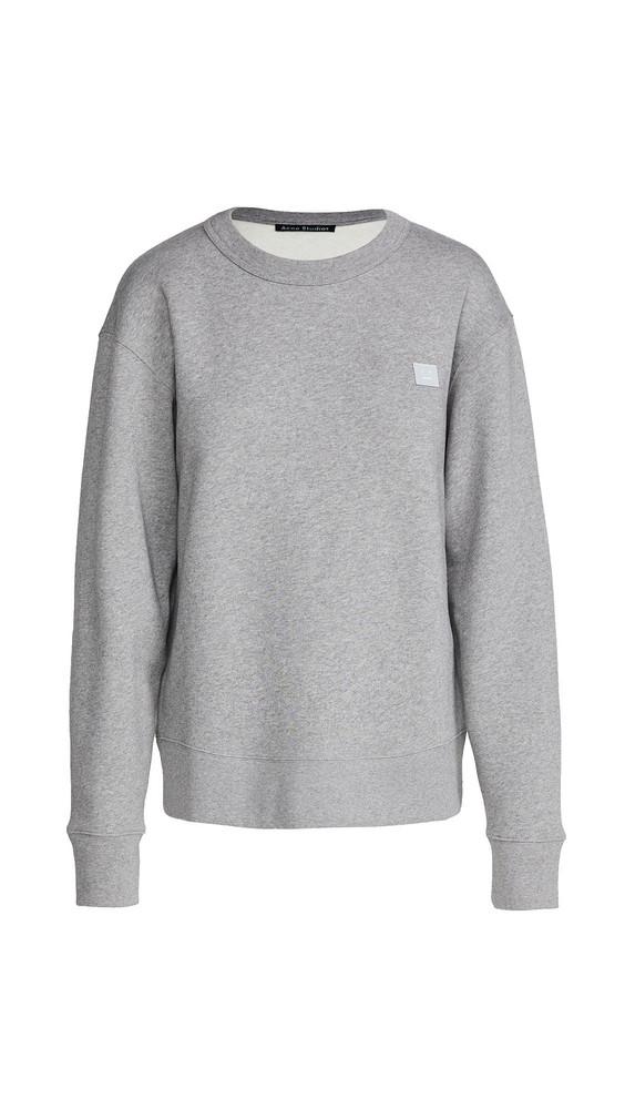 Acne Studios Fairview Face Sweatshirt in grey