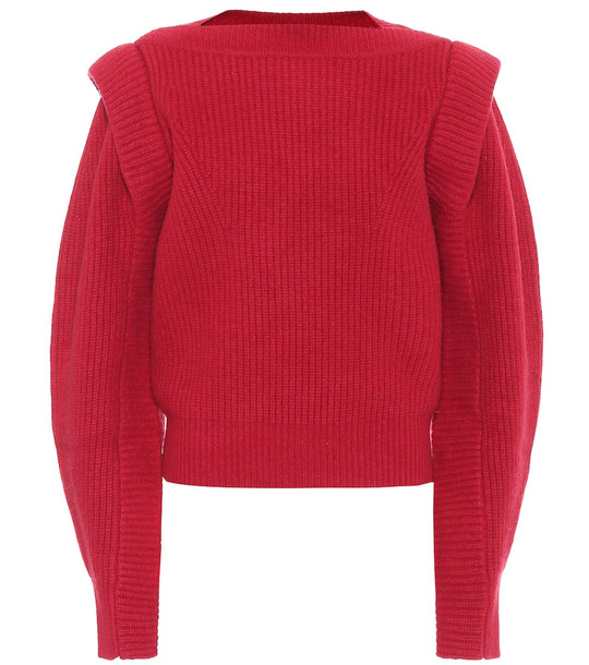 Isabel Marant Jody cashmere and wool sweater in red