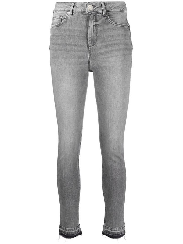LIU JO mid-rise skinny jeans in grey