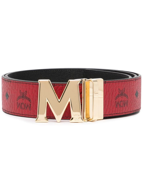 MCM Claus M reversible belt in red