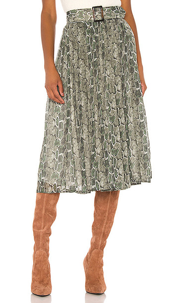 Song of Style Phoebe Midi Skirt in Green