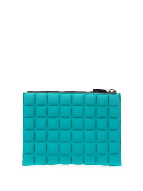 No Ka' Oi padded effect rectangular clutch bag in green