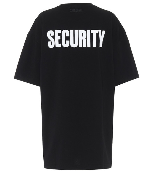 Vetements Printed cotton T-shirt in black