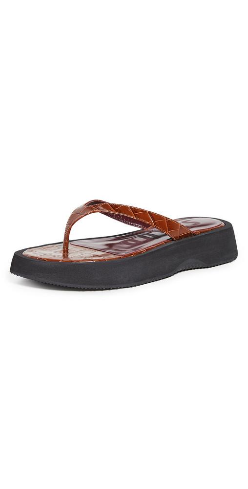 STAUD Tessa Sandals in black