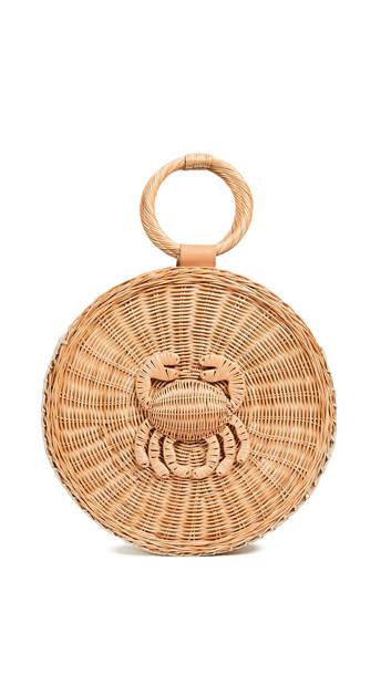 ARANAZ Malia Round Tote Bag in natural