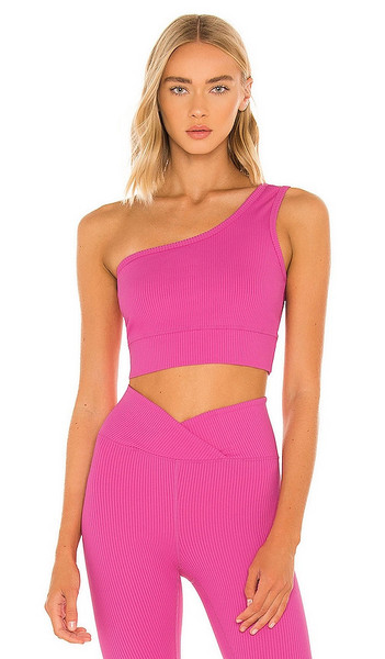 YEAR OF OURS Ribbed 54 Sports Bra in Pink in rose / violet