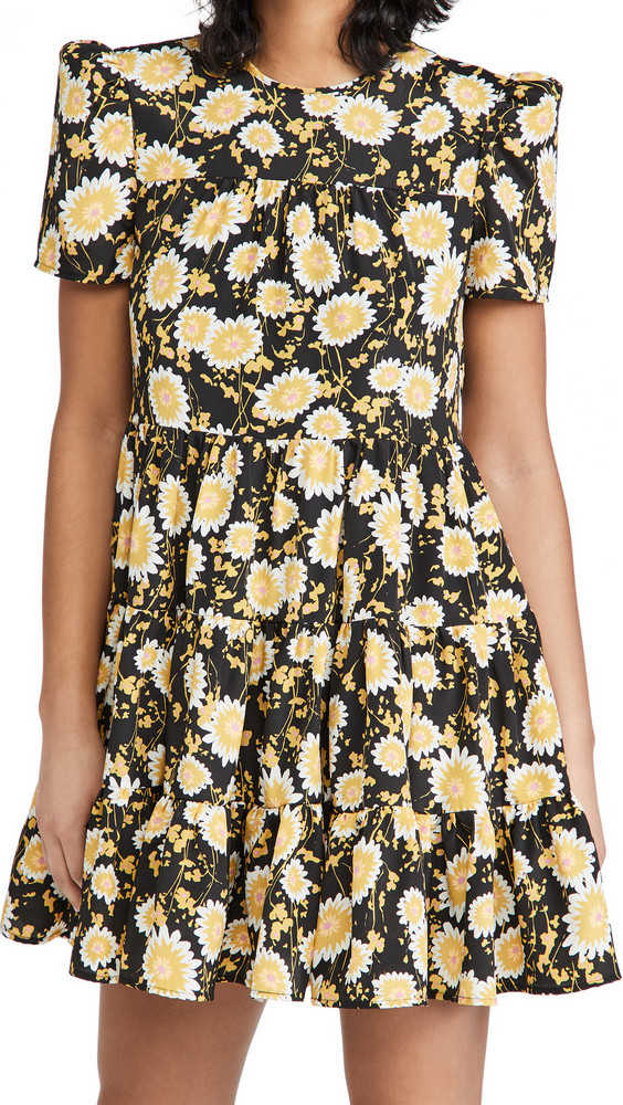 LIKELY River Dress in black / yellow / multi