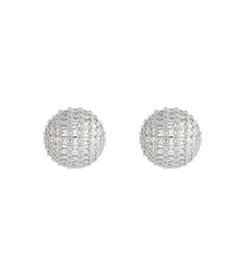 Peter Do Crystal dome earrings in silver
