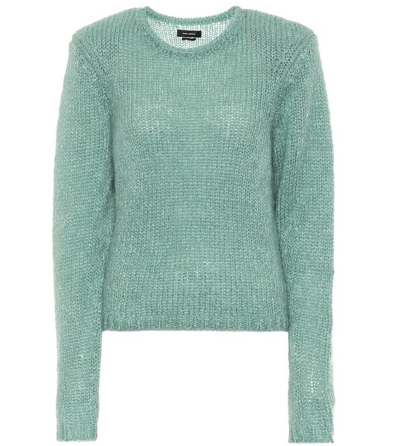 Isabel Marant Erin mohair-blend sweater in green