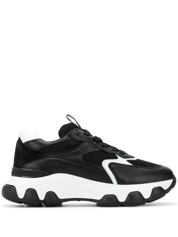 Hogan chunky contrast sole sneakers in black