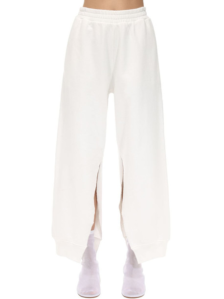 MM6 MAISON MARGIELA Plain Cotton Track Pants in white