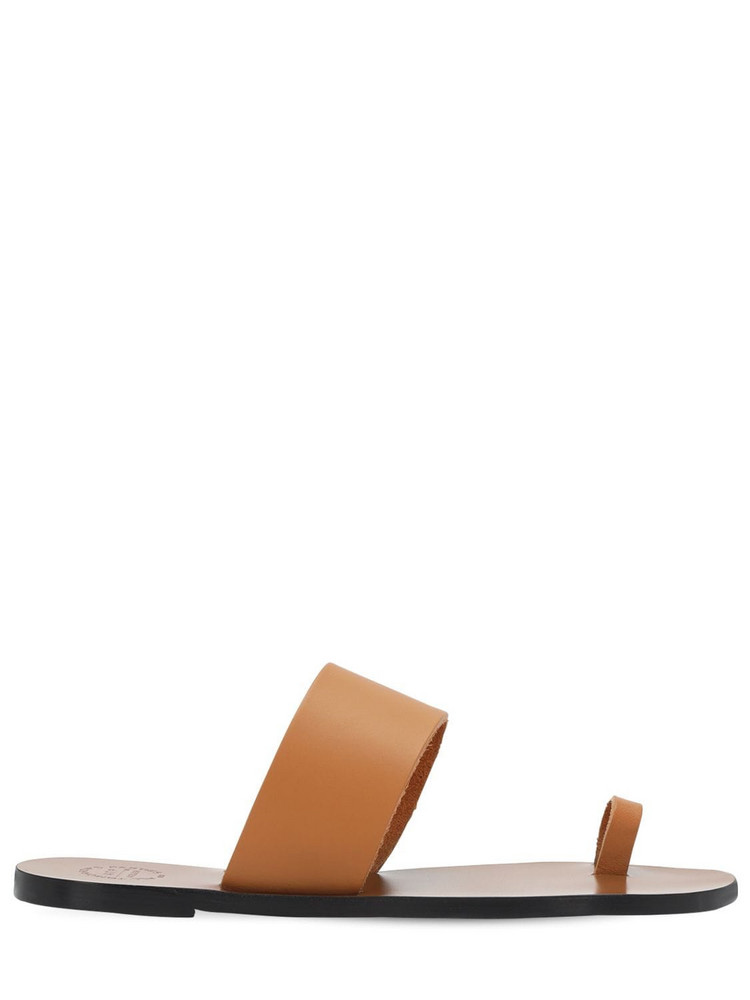 ATP ATELIER 10mm Leather Thong Sandals in tan