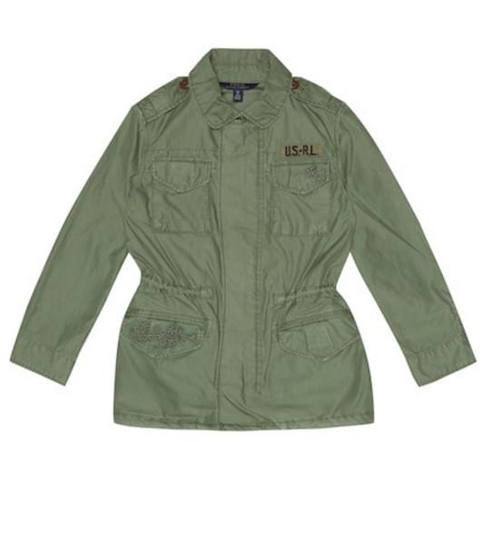 Polo Ralph Lauren Kids Cotton jacket in green