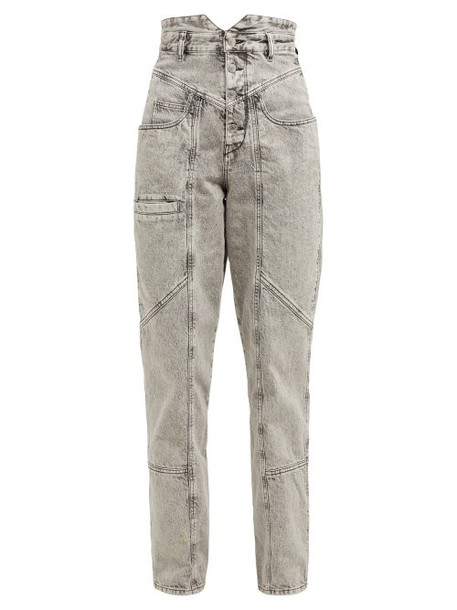 Isabel Marant - Roger High Rise Panelled Jeans - Womens - Grey
