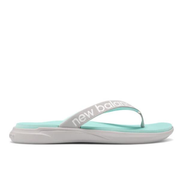 New Balance 340 Women's Flip Flops Shoes - Grey/White/Blue (SWT340A1)