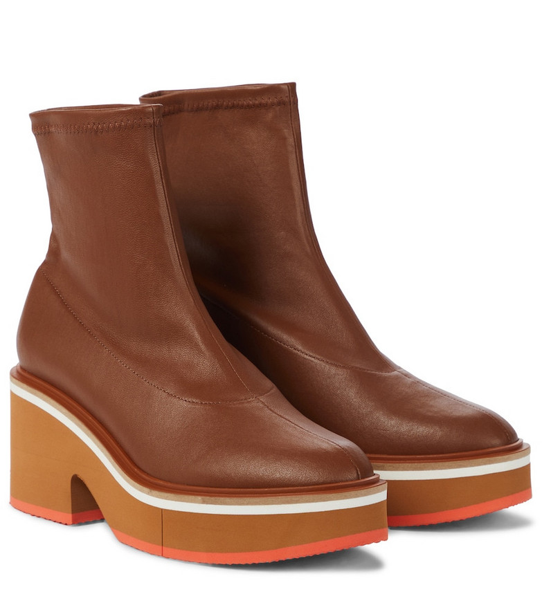 Clergerie Albane leather ankle boots in brown