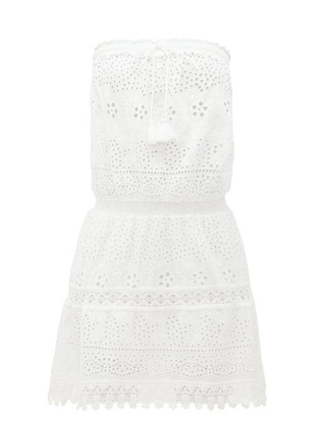 Melissa Odabash - Iris Broderie-anglaise Cotton Mini Dress - Womens - White