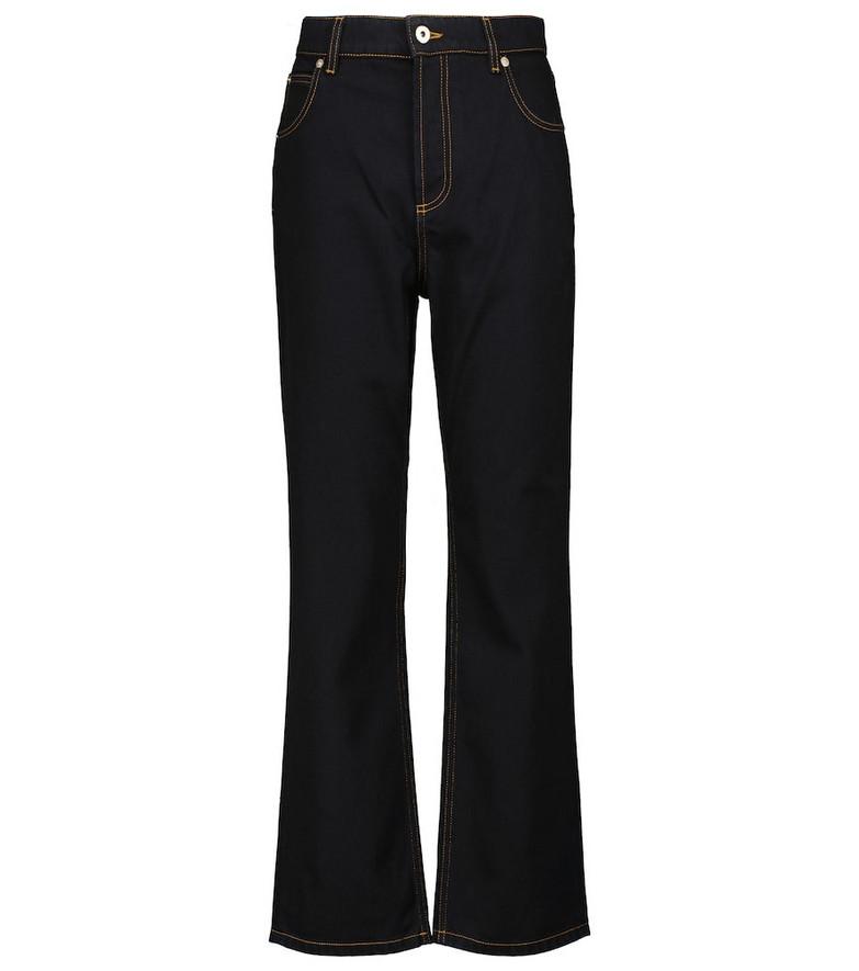 LOEWE High-rise straight jeans in black