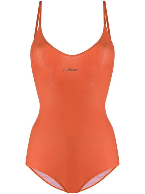 Soulland Adel stretch swimsuit in orange