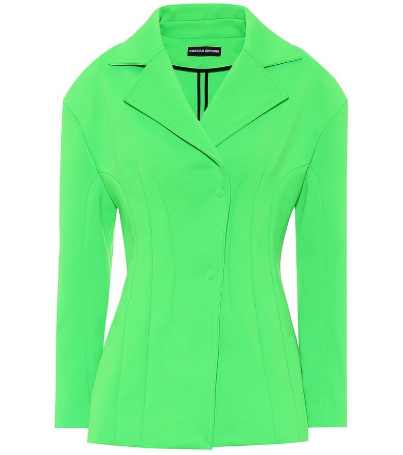 Kwaidan Editions Jersey-mousseline blazer in green