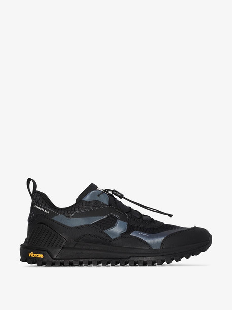 Brandblack Black Sierra leather sneakers