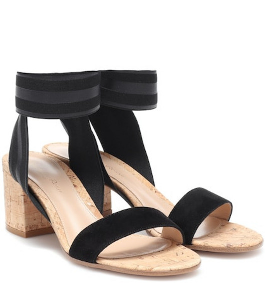 Gianvito Rossi Suede sandals in black