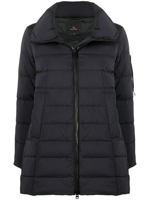 Peuterey down-feather zip-up coat in black