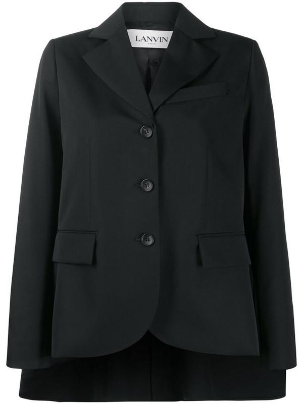 LANVIN cape style blazer jacket in black