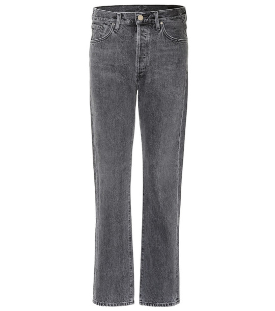 Goldsign The Benefit high-rise straight jeans in blue
