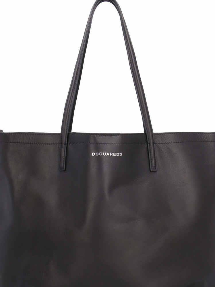Dsquared2 Leather Tote Bag in black