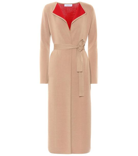 Gabriela Hearst Exclusive to Mytheresa – Nancy wool-blend wrap jacket in beige