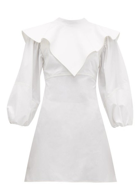 Ellery - O'dell Overlay Cotton Dress - Womens - White