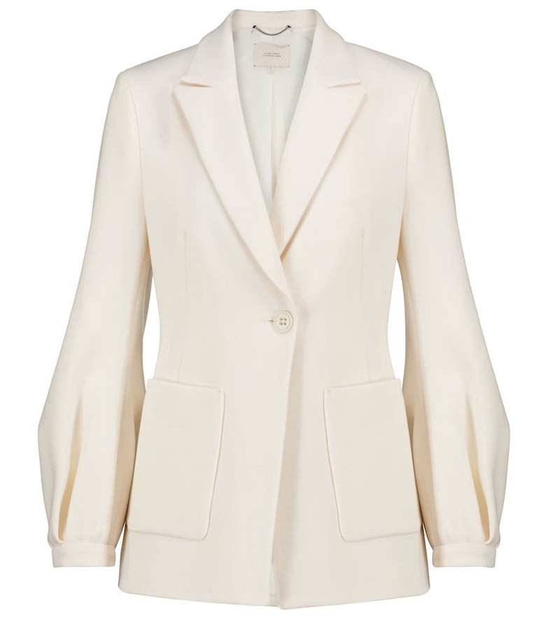 Dorothee Schumacher Sophisticated Perfection crêpe blazer in white