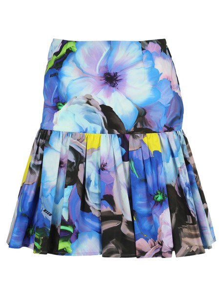 Msgm Skirt in blue / print
