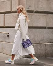 skirt,pleated skirt,white skirt,midi skirt,sneakers,chanel,handbag,sweatshirt