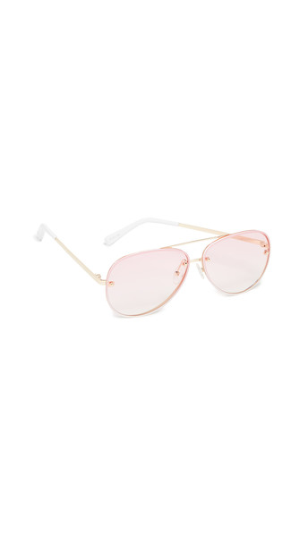 Le Specs Hyperspace Sunglasses in gold / pink