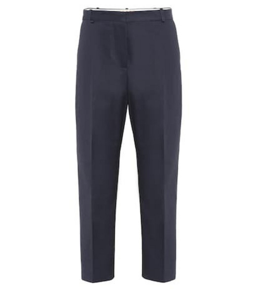 Marni Cotton and linen twill pants in blue