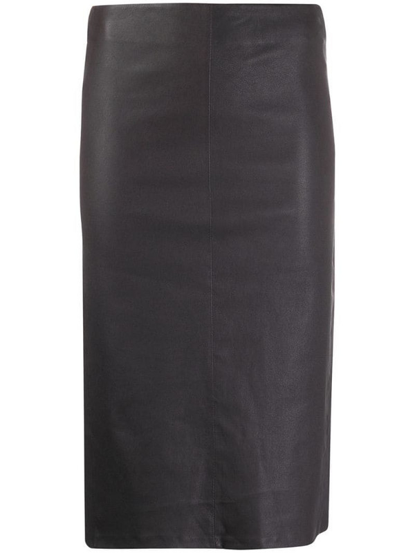 Arma fitted midi skirt in grey