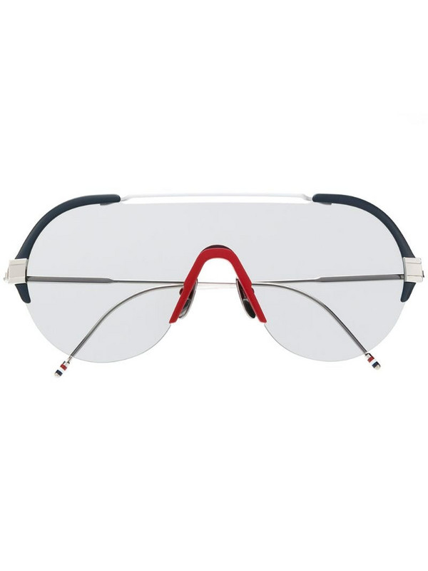 Thom Browne Eyewear TBS811 mask-frame sunglasses in silver