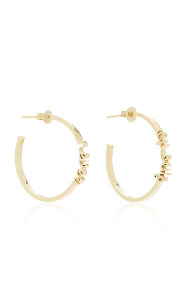 TULLIA Personalized Hoop Earrings in gold