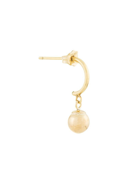 Petite Grand Gold Ball Mix and Match earring in metallic