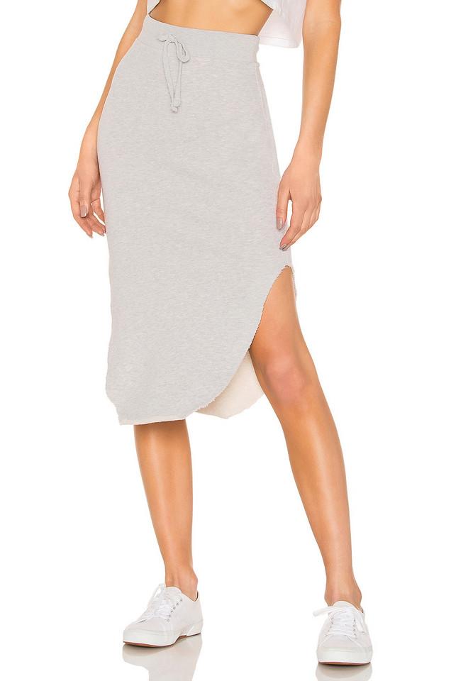 Frank & Eileen Tee Lab Long Fleece Skirt in gray