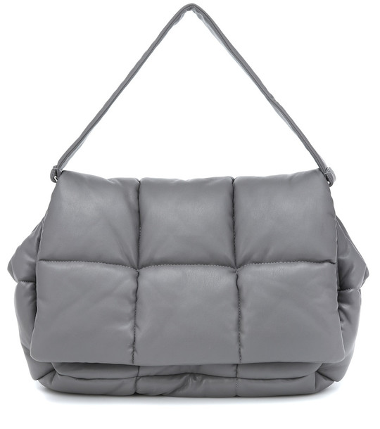 Stand Studio Wanda faux leather clutch in grey