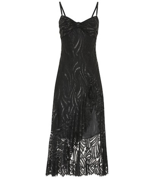 Jonathan Simkhai Lace midi dress in black