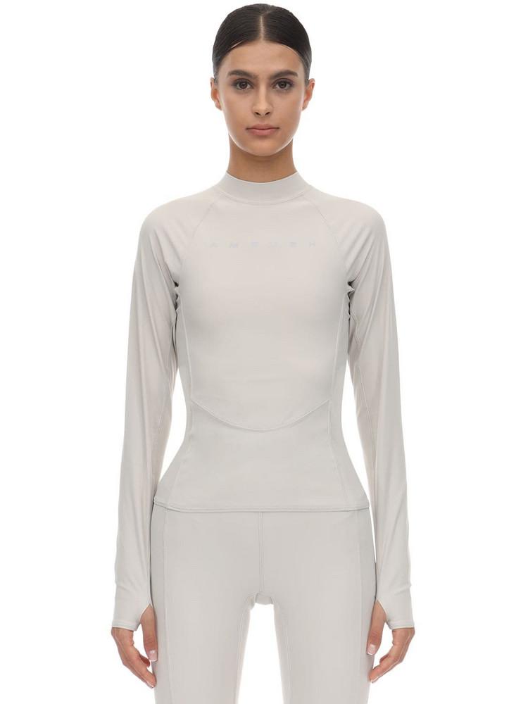 AMBUSH Printed Tech Jersey Top in grey