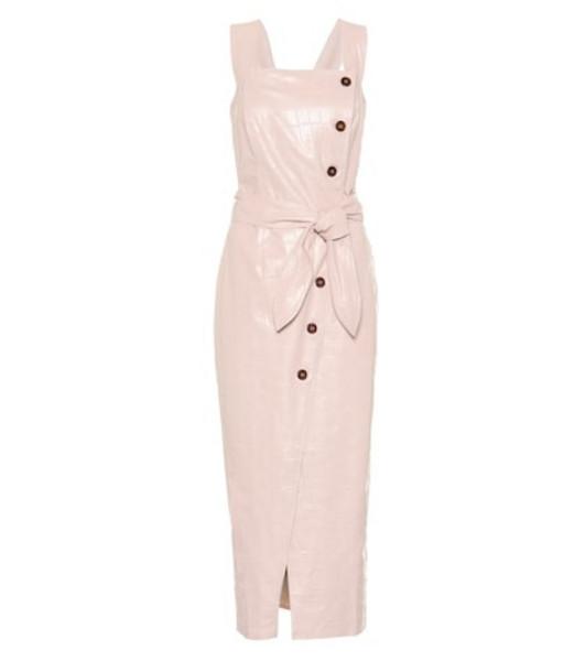 Nanushka Zora faux leather dress in pink