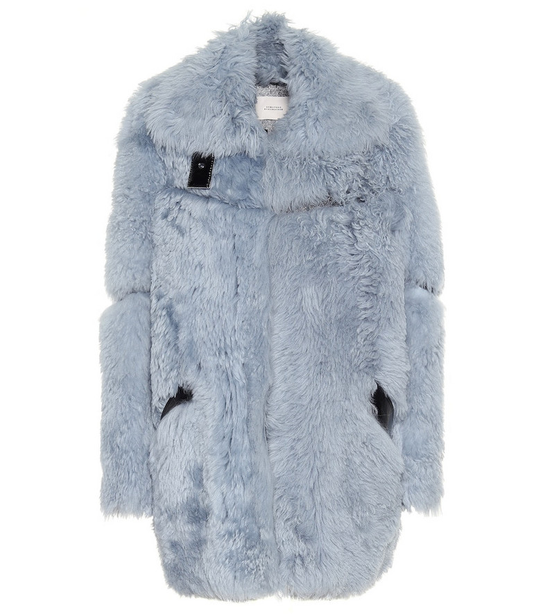 Dorothee Schumacher Reversible shearling leather jacket in blue
