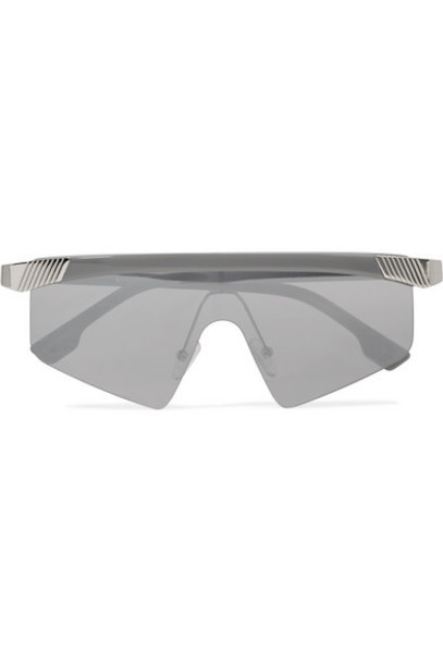Le Specs - Engineer D-frame Silver-tone And Acetate Sunglasses